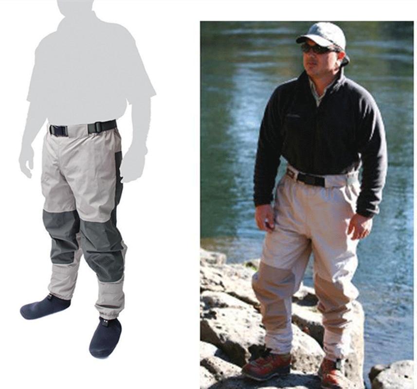 hot sale super light 1.2kg men women HQ waterproof elastic waist wader pants breathable fabric fishing sock jumpsuit trousers
