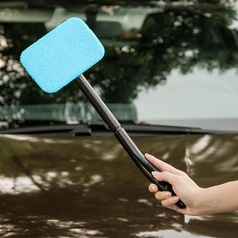 2018 novo 1pc microfiber auto limpador de janela longo lidar com carro lavável escova de carro janela pára-brisa limpador de limpeza do carro ferramenta