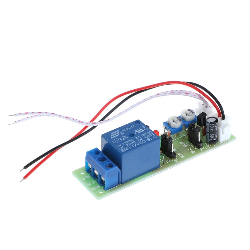 OOTDTY 12V DC retraso de ciclo infinito temporizador relé encendido apagado interruptor bucle Módulo de disparador