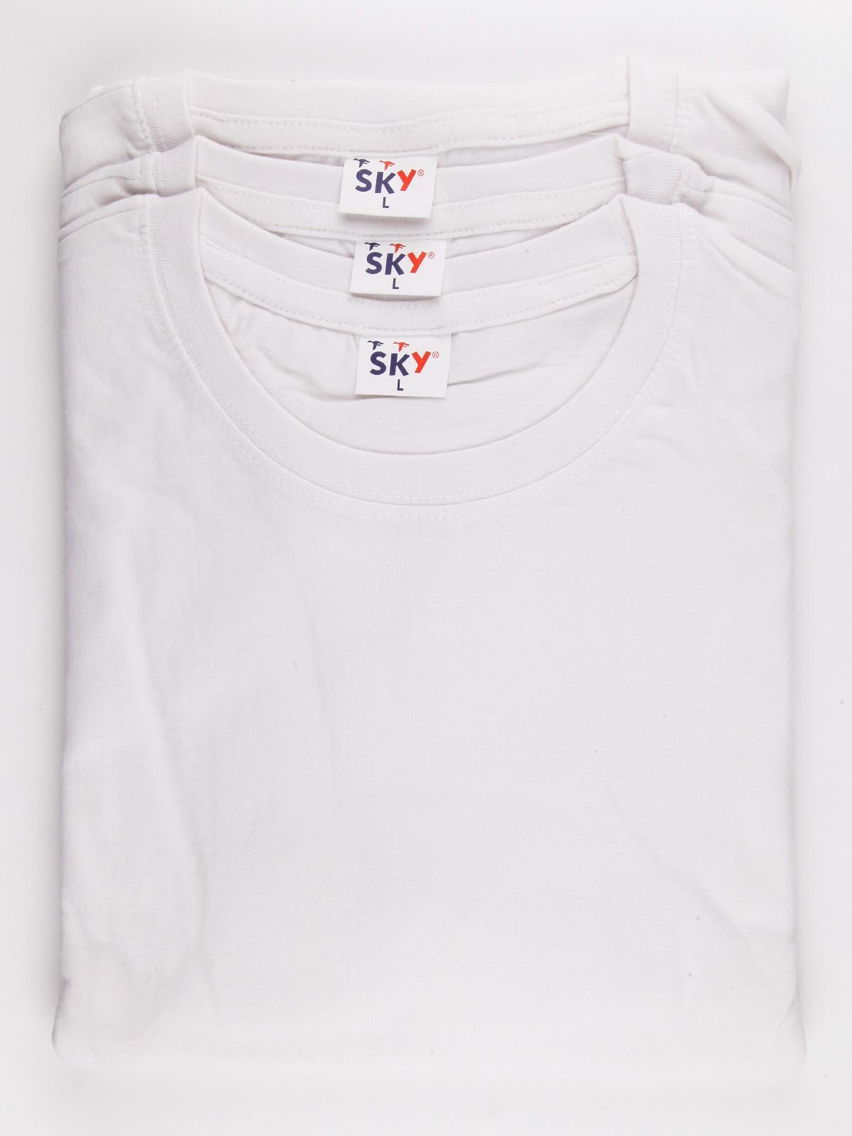 Camisetas de cuello redondo X3-plain