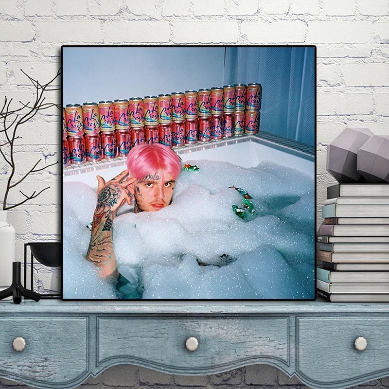Dm tu Lil Peep tatuaje Lil Peep baño cartel Comics pinturas sobre lienzo moderno arte decorativa para pared fotos casa Decoración