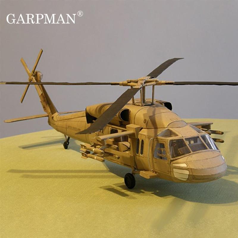 Helicóptero multipropósito 1:33 Black Hawk Uh-60 modelo de papel 1: 33 modelo de helicóptero Black Hawk