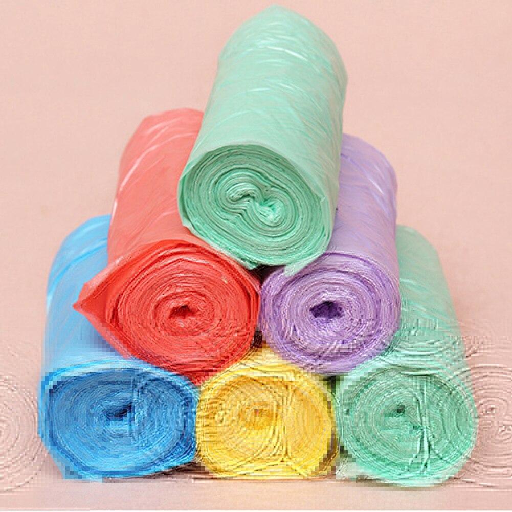 Sacs à ordures en plastique   1 rouleau de sacs à ordures de taille 50*45CM, couleur unique, épais, pratique, nettoyage de lenvironnement, sacs de déchets