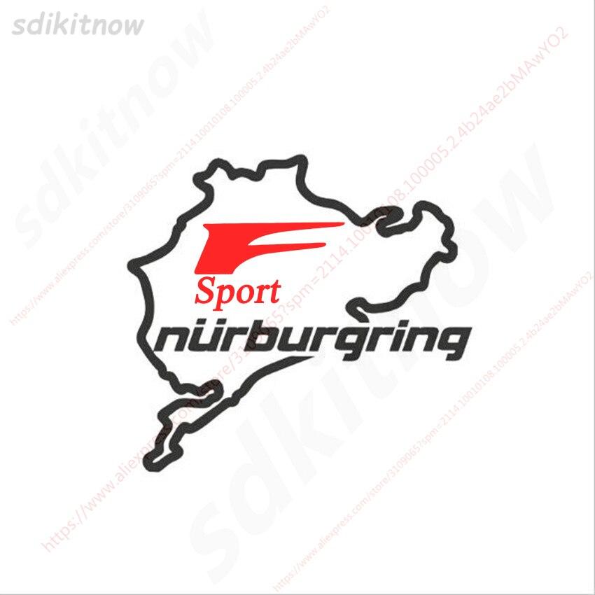 14x15cm Nurburgring F pegatina deportes Fsport Racing Windows puerta cuerpo calcomanía coche estilo para Lexus IS ISF GS RX RX350 ES IS250