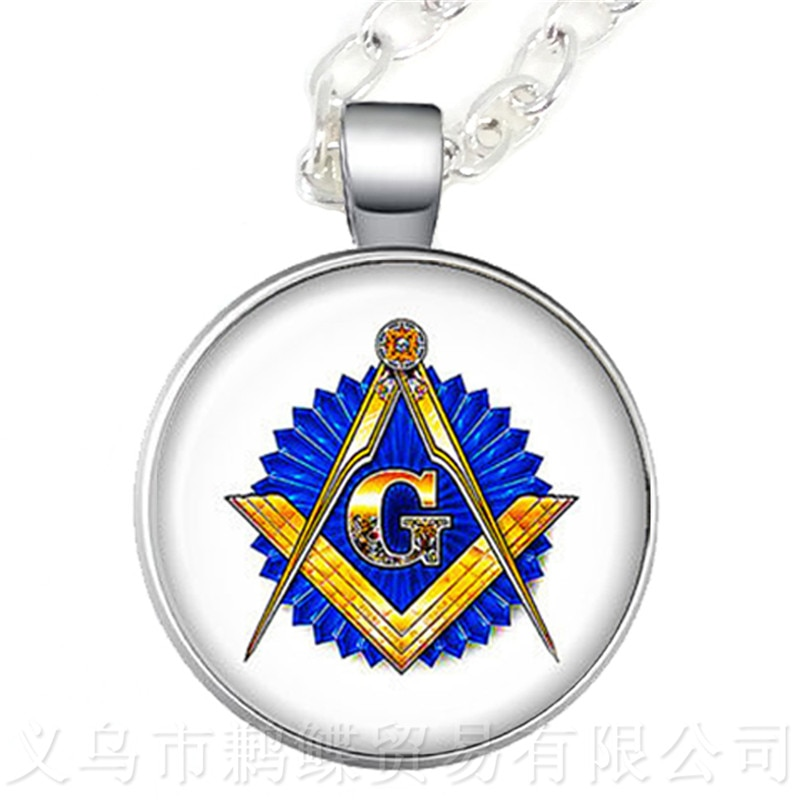 Free-mason Necklace Free and Accepted Masons Pendant For Women And Men Mocked The Birds Sweater chain For Justice And Freedom