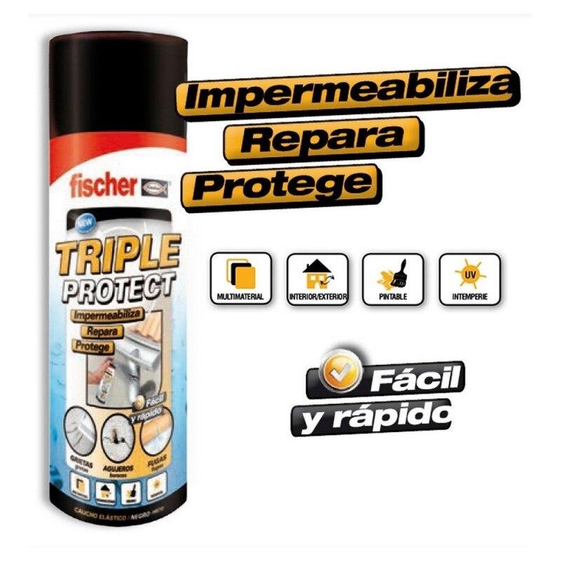 FISCHER 535747 - SPRAY TRIPLE PROTECT negro