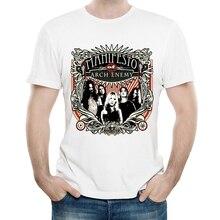 Arch Enemy T-shirt Couleur Blanche De Mode Pour Hommes Manches Courtes Arch Enemy Logo T-Shirts Hauts T-shirts tshirt bande Rock Vêtements Livraison Directe