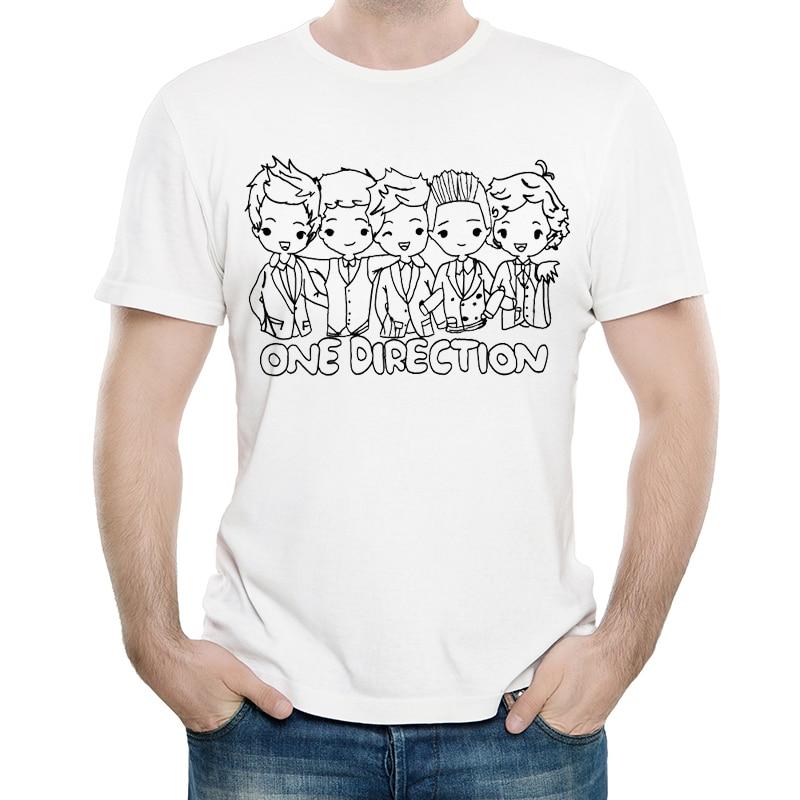 Camiseta de One Direction de Color blanco para hombre, camiseta a la moda de manga corta con Logo de One Direction, polos camiseta, ropa para hombre de banda famosa