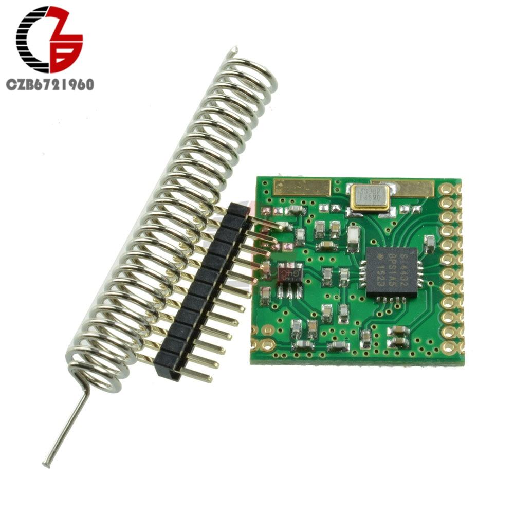 DC 3V SI4432 433,92 MHz Módulo Transceptor Inalámbrico Mini transmisor receptor placa FSK GFSK OOK RSSI antena automática a juego