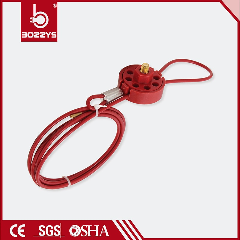 Fechaduras de Segurança para a engenharia industrial LOTO isolou o cabo trava de Segurança trava do cabo de aço Inoxidável Tipo De Roda Barato BD-L31 Cabl