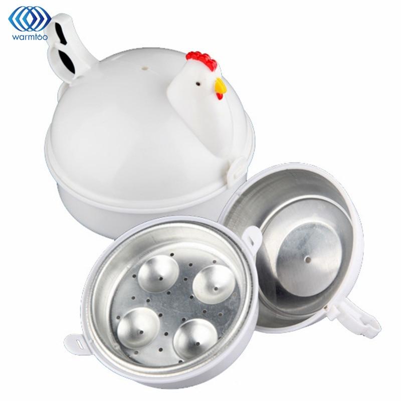 Kitchen Eggs Steamer Chicken Shaped Microwave 4 Egg Boiler Cooker Novelty Kitchen Cooking Appliances