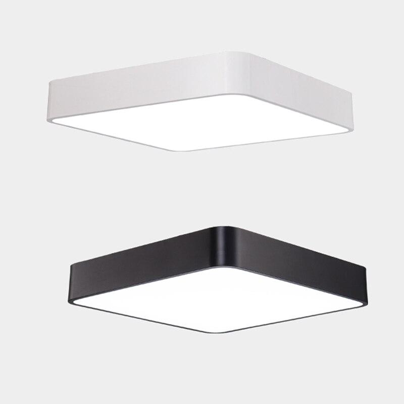 Lámpara LED cuadrada de techo, Panel delgado, 18W 24W 36W AC85-265V salón, pasillo, dormitorio, lámpara LED de techo