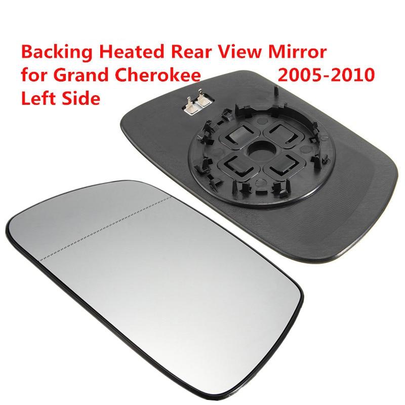 Lado del conductor izquierdo, espejo retrovisor climatizado, espejo retrovisor Exterior de coche, espejo retrovisor de calefacción para Jeep Grand Cherokee 05-10