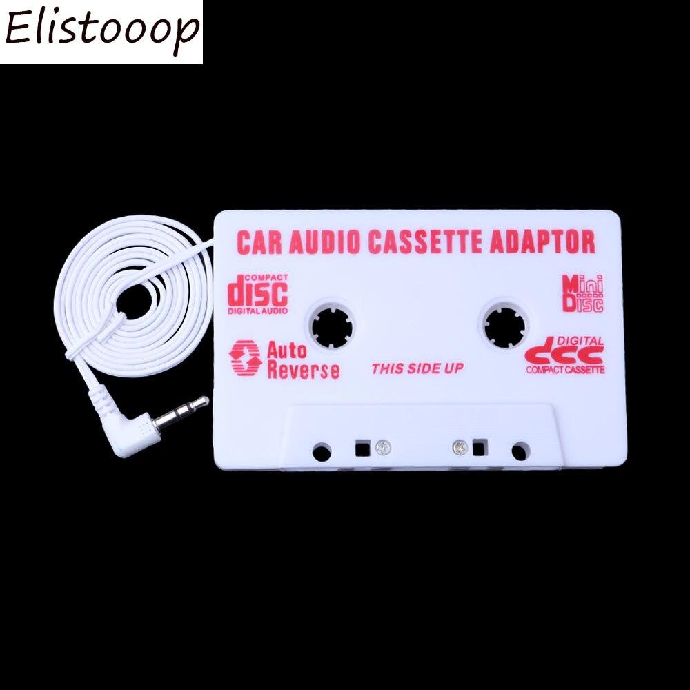 Elitooop Авто Универсальная автомобильная Кассетная лента аудио адаптер стерео конвертер для Iphone Ipod MP3 AUX CD 3,5 мм авто-Стайлинг автомобиля