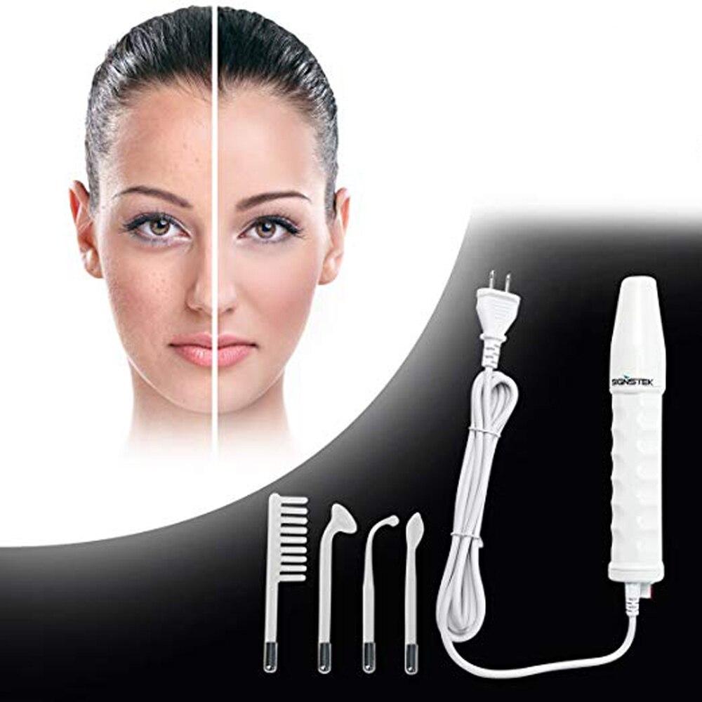 Máquina Facial de alta frecuencia portátil de mano para apretar la piel acné punto arrugas removedor terapia de belleza ojos hinchados cuidado del cabello