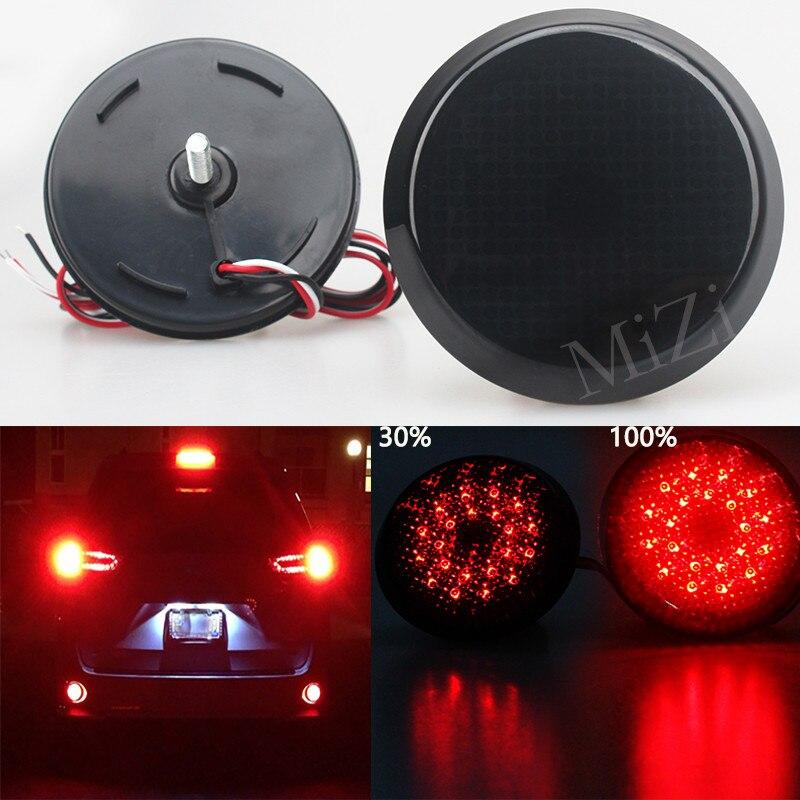 Reflector de parachoques trasero para coche, 2 uds., negro ahumado, para Scion xB iQ para Toyota Sienna Corolla, para Nissan Qashqai