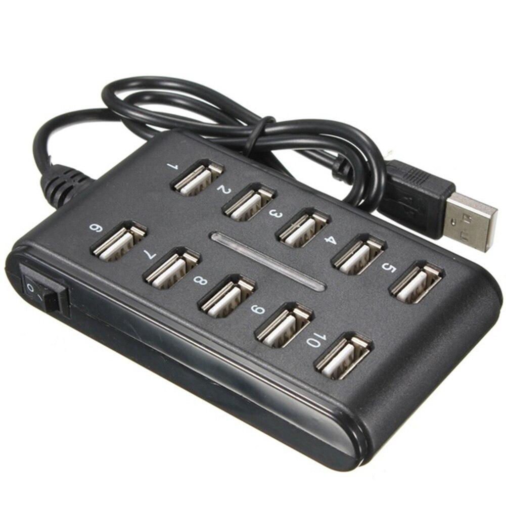 Высокоскоростной концентратор USB 2,0 480 Мбит/с, 10 портов, мультиперсональный компьютер, usb-концентратор, портативный usb-разветвитель для ПК, ноутбука #20