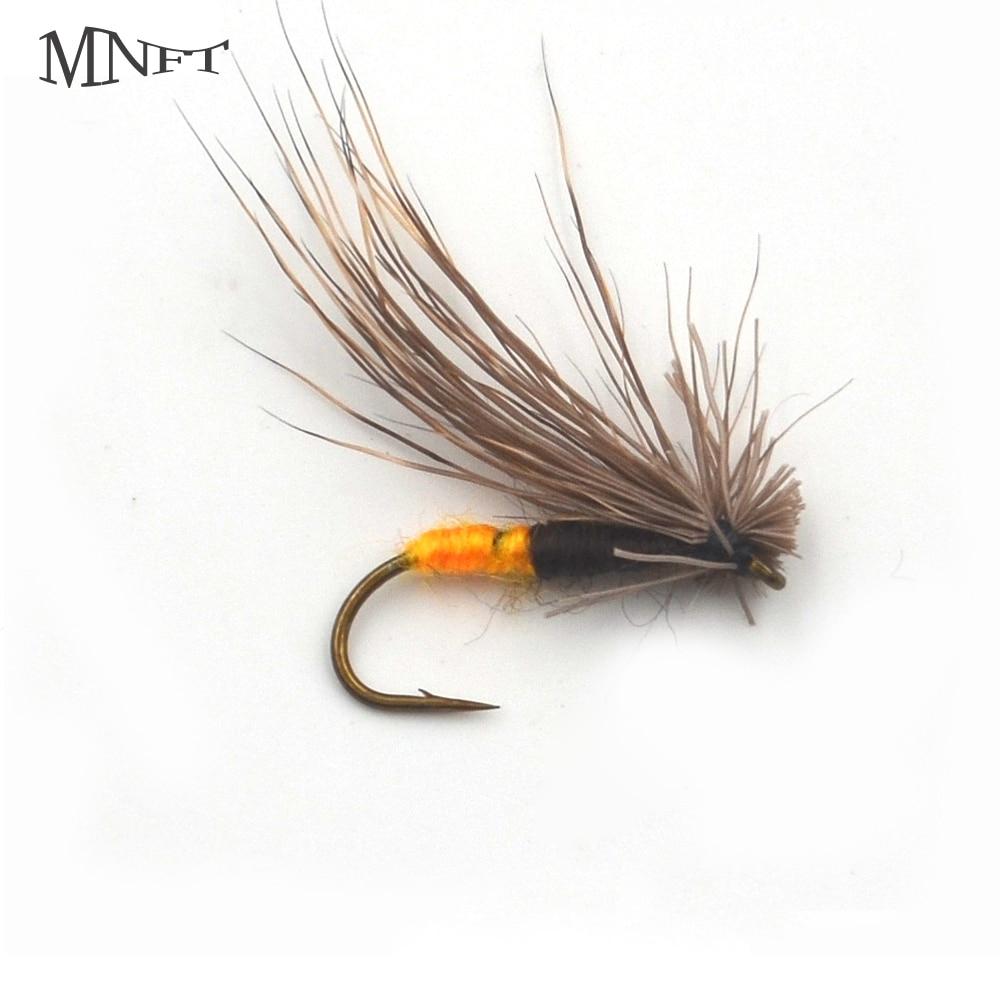 MNFT 10 Uds anaranjado negro oro trucha moscas al aire libre mosca pesca artificial cebo #10