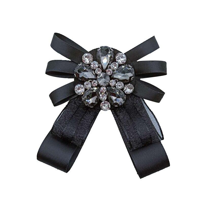 Broches de lazo de cristal hechos a mano para mujer moda exquisita broche Pin Bowknot Broches de alta calidad buen regalo