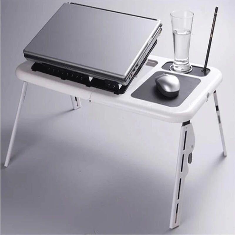 Mesa plegable multifuncional para ordenador portátil, cómoda Mesa perezosa con ventiladores de radiador, mesa auxiliar para ordenador portátil, mesa de centro pequeña