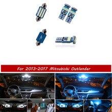 11 pièces blanc LED lampe voiture ampoules intérieur paquet Kit pour 2013-2017 Mitsubishi Outlander carte dôme tronc plaque lumière bleu glace