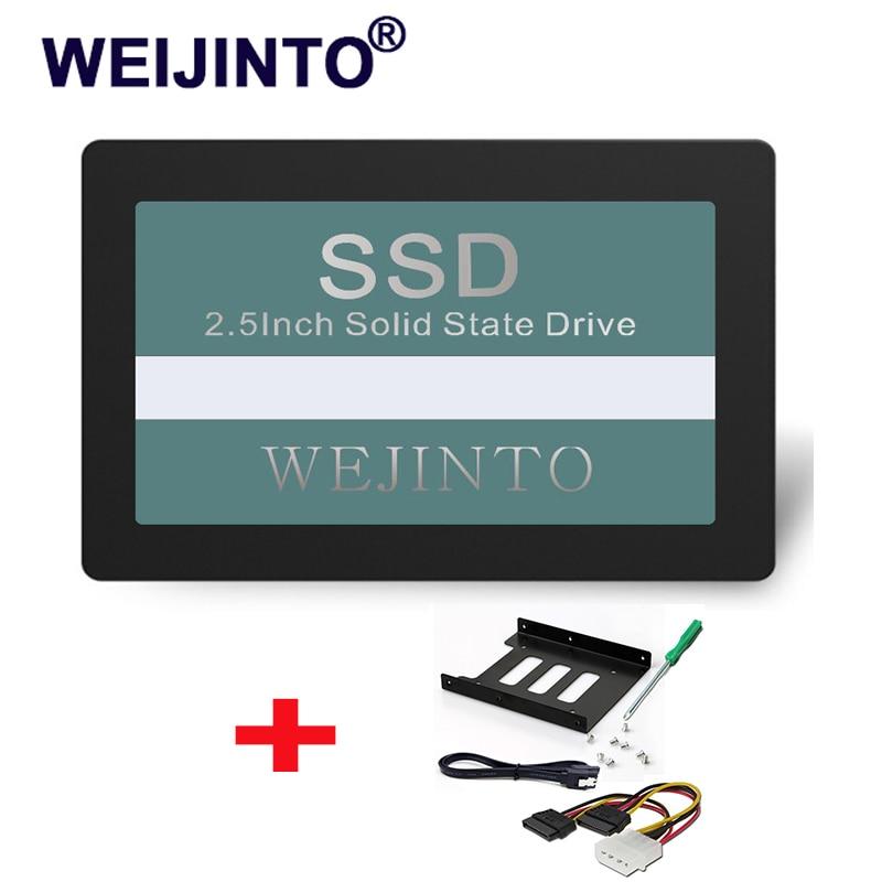 Disco Duro WEIJINTO SATAIII SATA3 SSD de 120GB de estado sólido Disk128GB y 2,5 SSD a 3,5 adaptador de montaje de Metal para escritorio