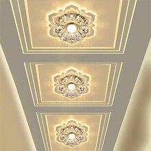 Allées LED lumières en forme de fleur cristal projecteurs downlights intégré plafond créatif couloir salon chambre