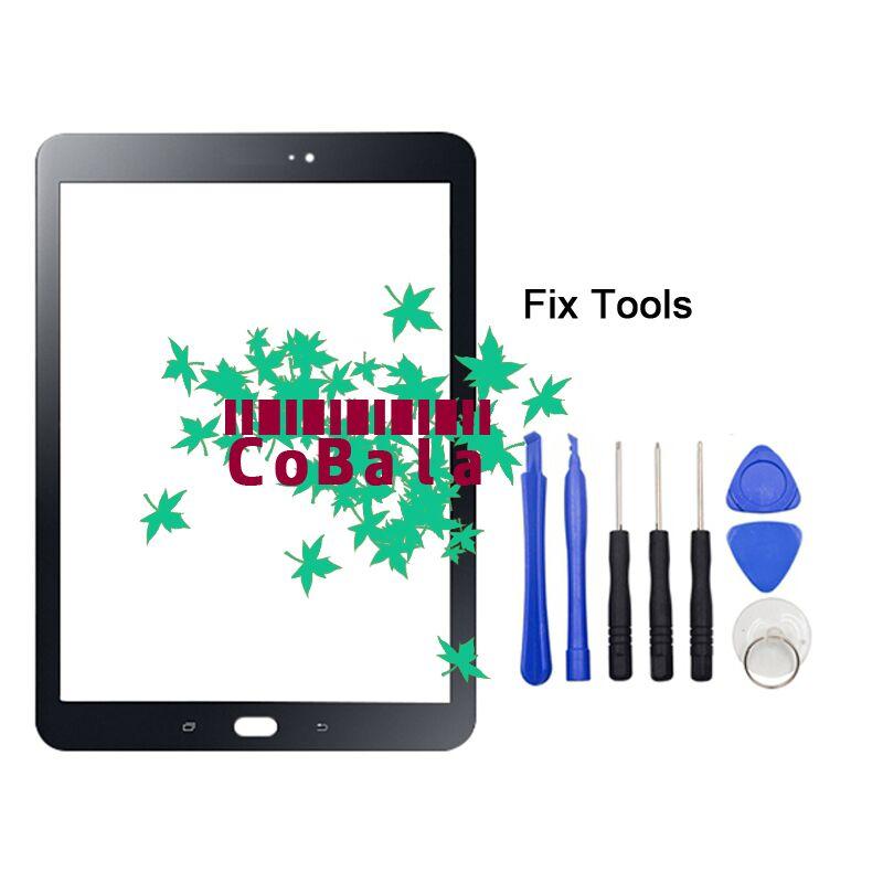 "LOVAIN 1 Uds para Samsung Galaxy Tab S2 9,7 2015 T810 T815 T817 cristal frontal 9,7 ""Pantalla táctil LCD Panel exterior + herramientas"