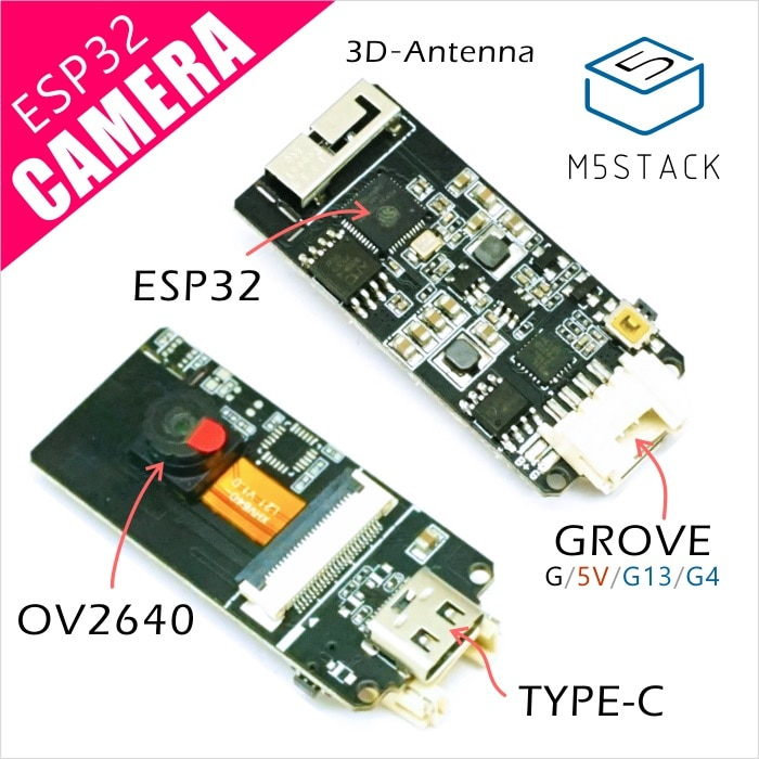 M5Stack официальная ESP32 плата для разработки камеры OV2640 камера Type-C роща порт 3D Wifi антенна плата для мини-камеры