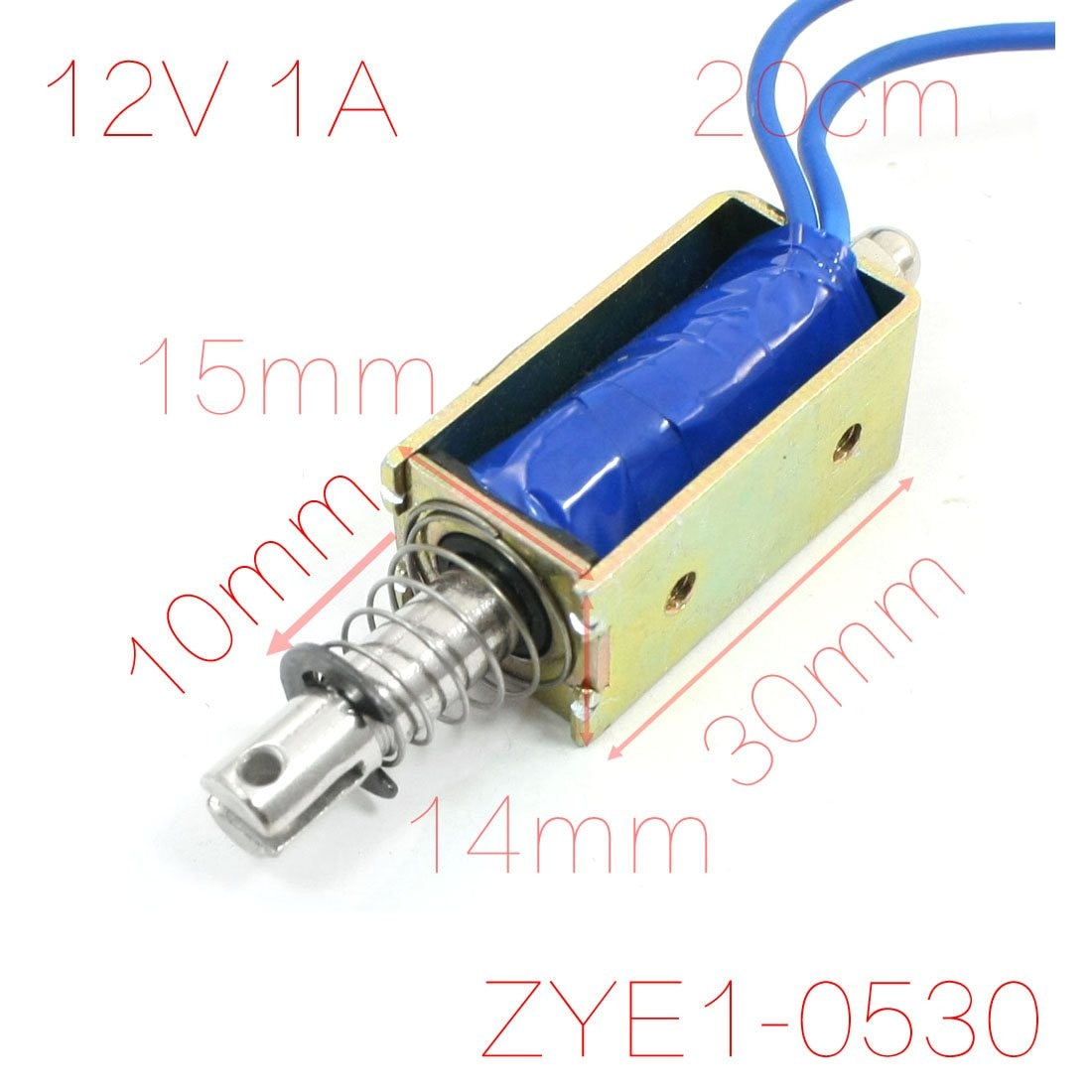 UXCELL 12V 1A 10Mm de carrera 600G Tipo Push Pull marco abierto electroimán para bancos ATM, máquinas expendedoras caja registradora