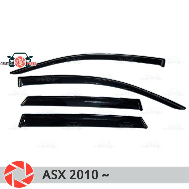 Deflector de ventana para Mitsubishi ASX 2010-deflector de lluvia protección de suciedad accesorios de decoración de diseño de coche moldeado