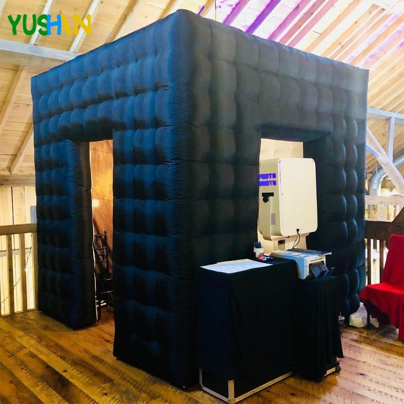 Ficar sem Luzes Tenda para Casamentos Oxford Grande Cubo Inflável Photo Booth Festa Cenário Portátil Cabine 2.8 m