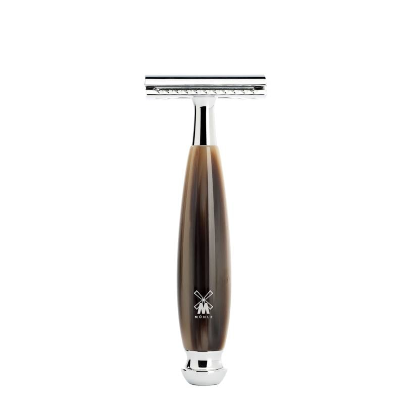 MÜHLE VIVO SAFETY RAZOR, CLOSED COMB, HANDLE MATERIAL RESIN HORN --- BROWN