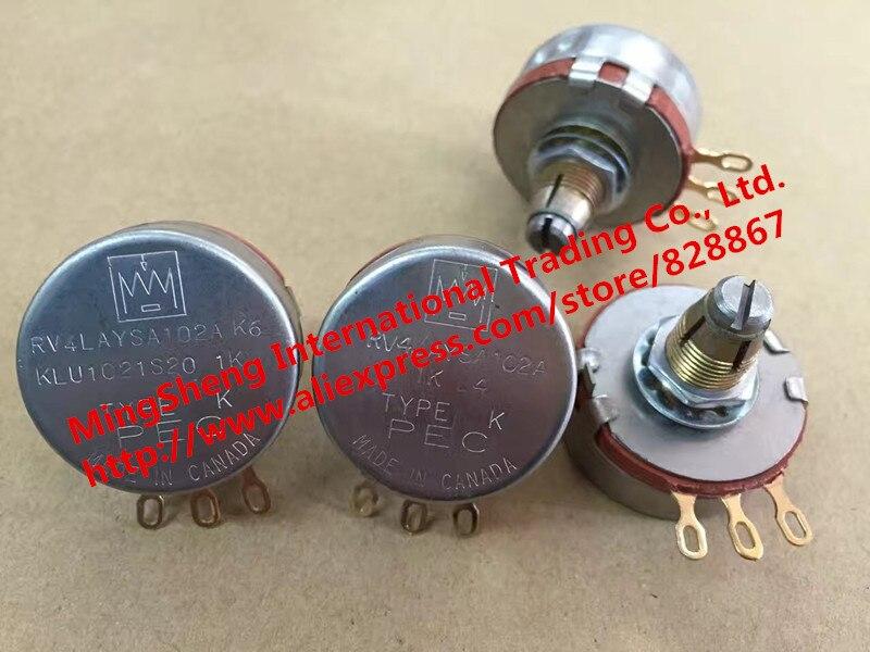 100% rv4lasa102a 1K مقياس جهد واحد ، قدم مطلية بالذهب (مفتاح) ، أصلي وجديد