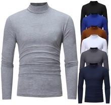 PADEGAO t-shirts hommes col roulé chandails skinny solide pull chaud à manches longues t-shirts hauts blouse hiver sous-vêtement thermique