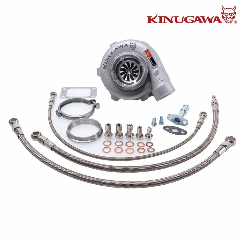 "Kinugawa GTX Ball Bearing Turbocharger 3"" Anti Surge GTX2867R T3 V-Band for Nissan 180SX CA180DET S13"