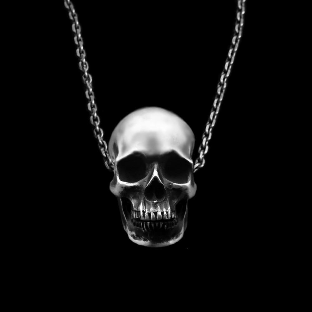 EYHIMD anatomie humaine crâne pendentif collier pour hommes mode Biker Rock Punk bijoux argent couleur cuivre, longueur de la chaîne 55cm