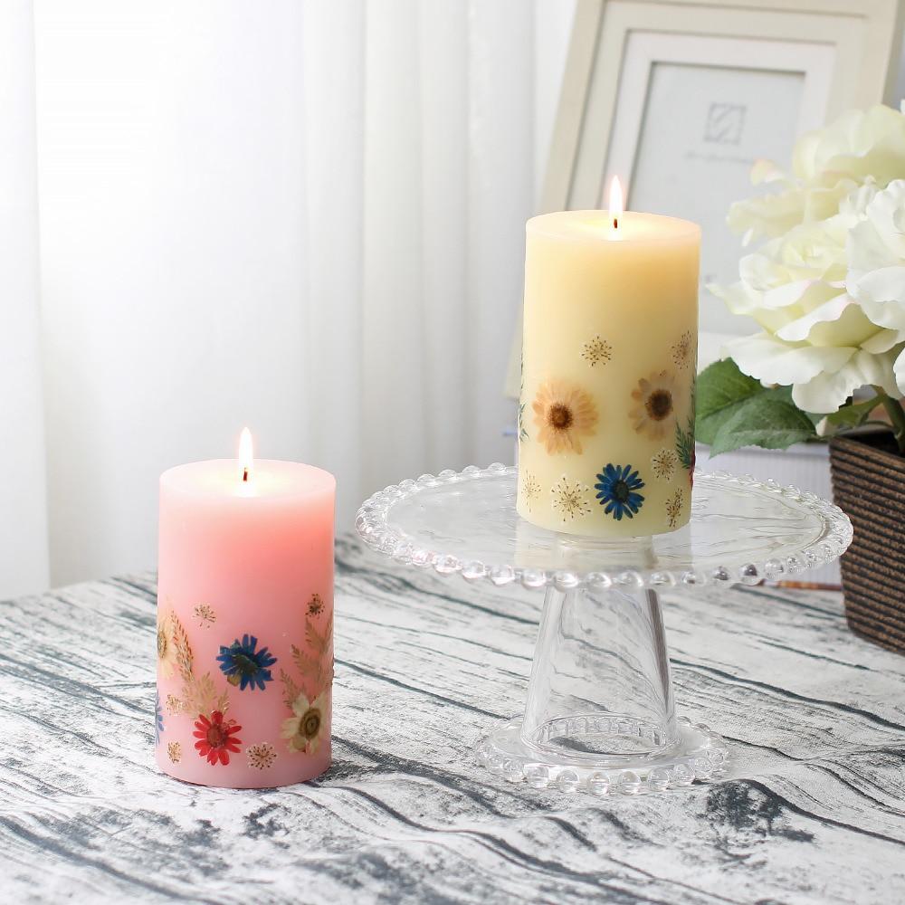 Vela de aromaterapia hecha a mano GiveU con aroma de vainilla con flor en relieve para decoración romántica de boda de cumpleaños