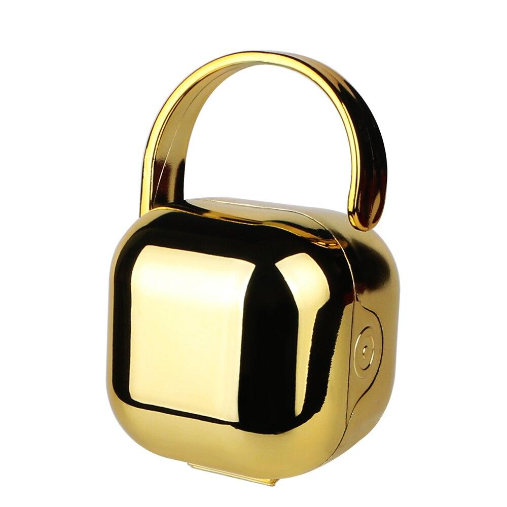 MIYOCAR exclusivo design chupeta com revestimento sliver ouro chupeta chupeta BPA livre FDA grau alimentício seguro e mamilo caixa de armazenamento