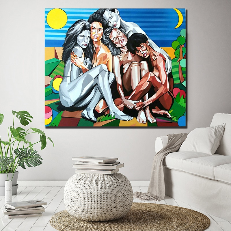 Nudez Pinturas Cubismo Abstrato Da Lona Posters Imprime a Arte Da Parede Pintura Decorativa Imagem Moderna Decoração de Casa