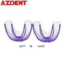 1 pièces appareil dentaire entraîneur alignement accolades Pro SiliconeTooth orthodontiques accolades embouchures pour dents droites/alignement