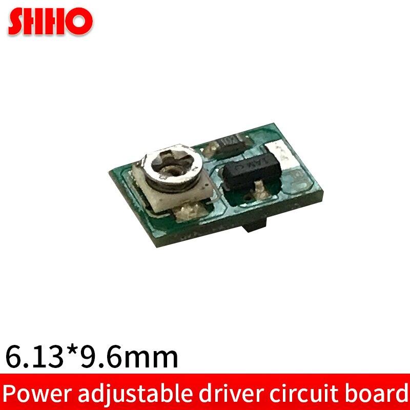 Placa de circuito ajustável do motorista pequeno 6.13mm * 9.6mm apc modo de trabalho pcb alta qualidade (sem diodo 405nm 450nm 520nm)