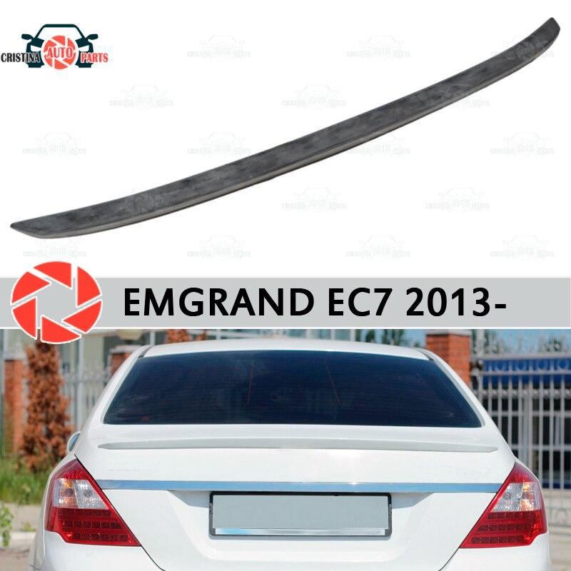 Spoiler para Geely Emgrand EC7 2013-de plástico ABS de maletero accesorios de la puerta de protección estilo de coche