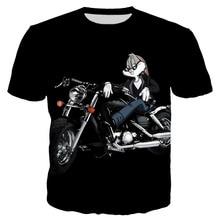 YX Girl 2019 Summer Unisex Tops Tees Bugs Bunny Biker Motorcycle Tshirt For Men Women Short Sleeve O-neck T shirt Streetwear