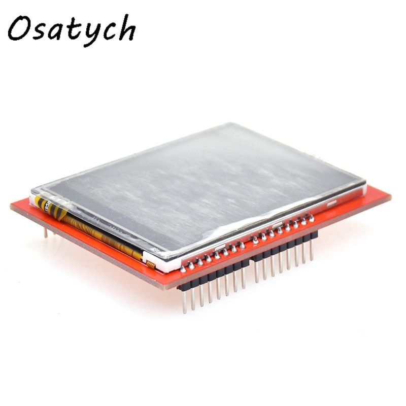 2,4 pulgadas SPI TFT pantalla LCD con Panel táctil LCD PCB ILI9341 Uno R3 240*320 Módulo de puerto serie 5V 3,3 V TFT Touch