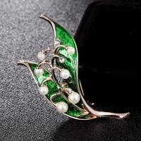 donia jewelry green brooch brooch bouquet woman and man wedding bride jewelry imitation pearl turban pin