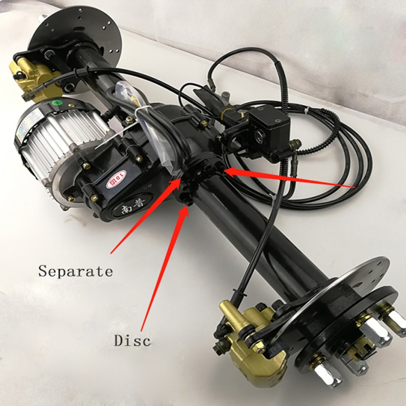 48 v 60 v 72 v 500 w 650 w 800 w 1000 w 1200 w motor sem escova elétrico da c.c. do rickshaw do motor 3 da carga da roda do eixo traseiro 100 cm