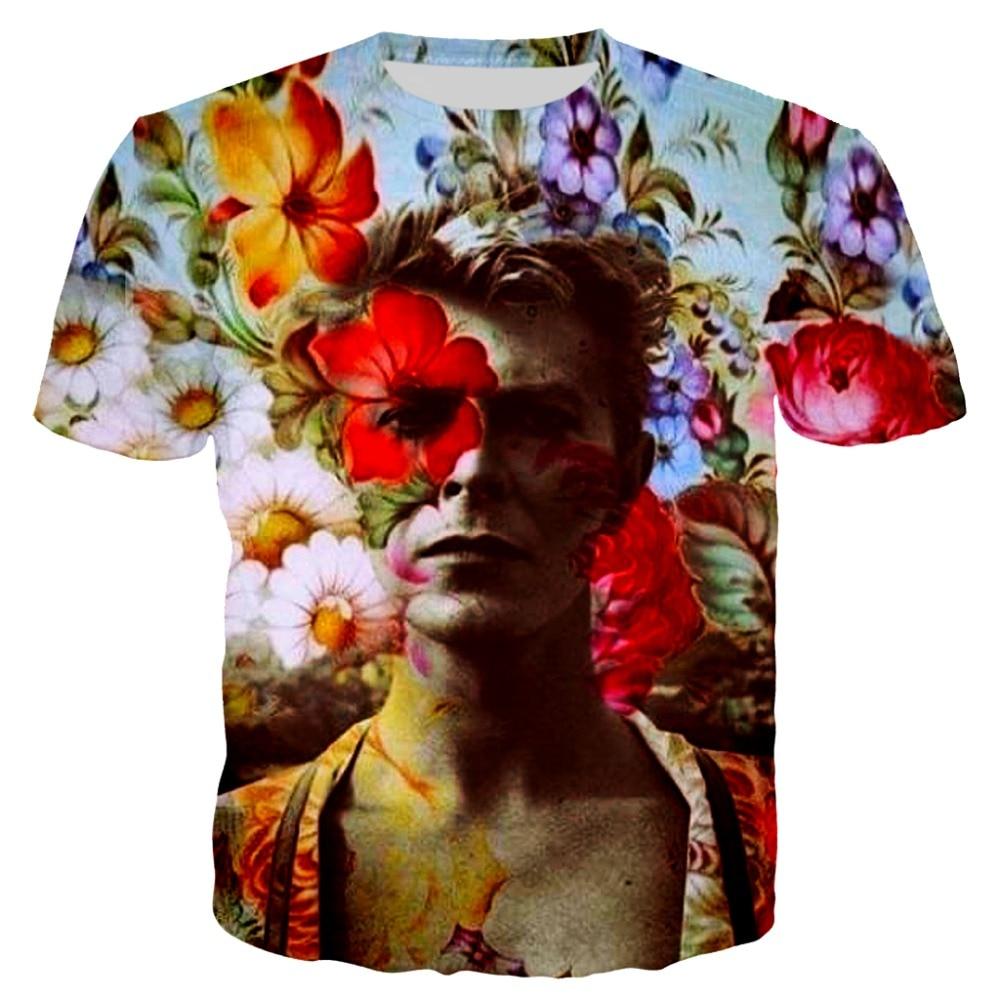 2019 verão dos homens hip hop t-shirts zlkoe david bowie 3d impressão t camisa masculina/feminina manga curta t-shirts o-pescoço camisetas engraçadas S-5XL