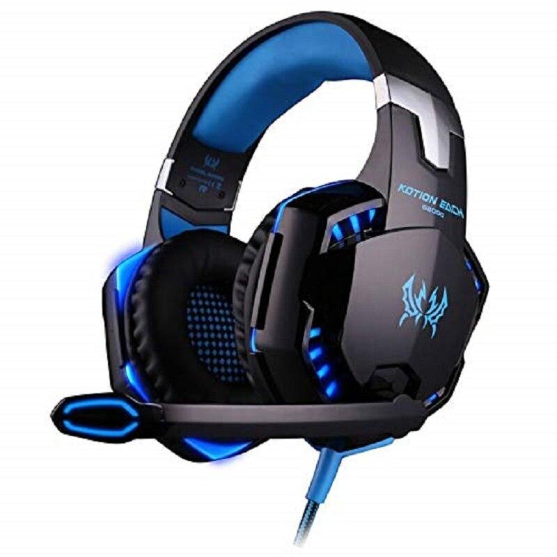 Fones de ouvido jogos compatível ps4 xbox pc móvel universal com controle led microfono volume mais vendidos