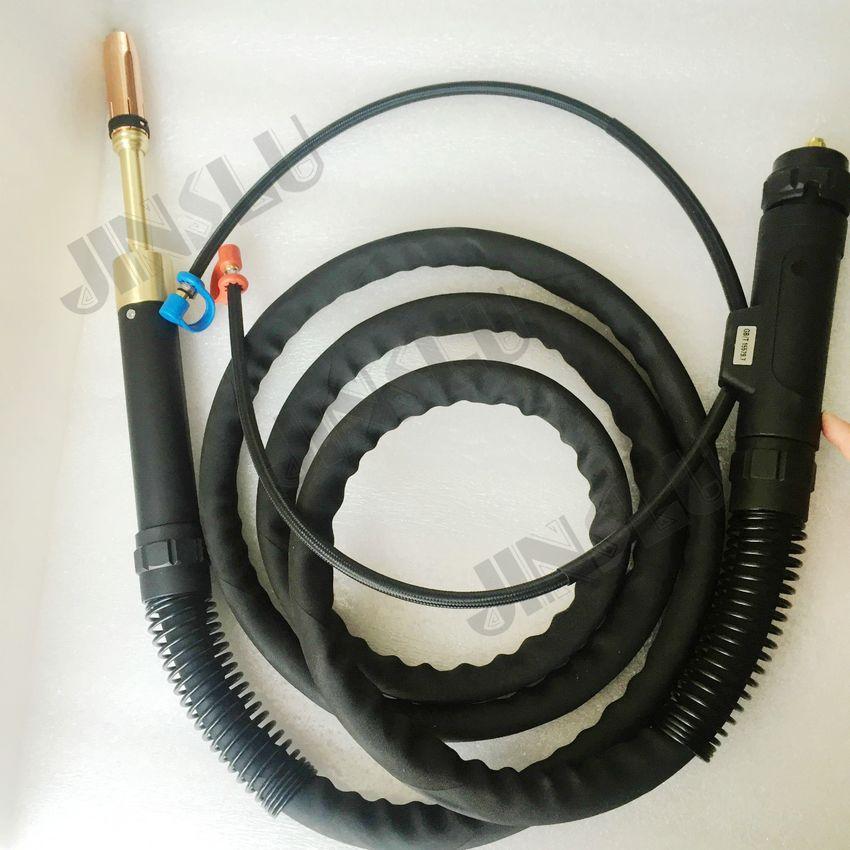 Прямые Сварочные горелки Binzel автом 501D, 3-метровый кабель с водяным охлаждением с Европейским разъемом